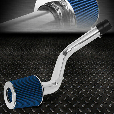 For 90-93 Honda Accord F22A Chrome Pipe Cold Air Intake Upgrade System w// Filter