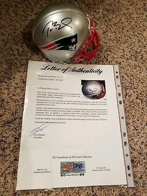 ca863b3fd Tom Brady signed mini helmet Full PSA letter autographed New England  Patriots