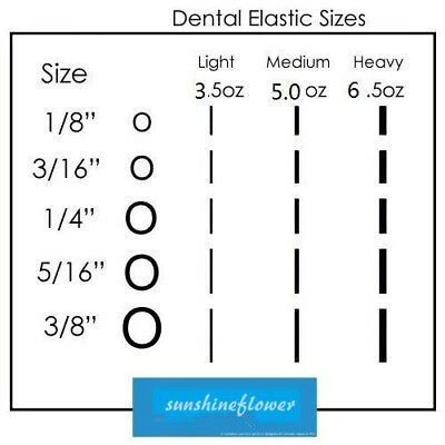 New Dental Orthodontic Rubber Bands Elastics Latex Braces 15 Sizes to Choose