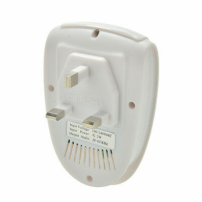 Ultrasonic Anti Mosquito Insect Pest Mouse Repellent Electro Repeller UK Plug FO