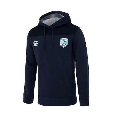 New South Wales NSW Blues CCC 2018 Players Navy Marle OH Hoody Size S-4XL!