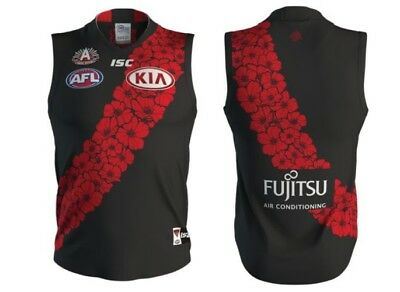 Essendon Bombers AFL 2018 ISC Anzac Guernsey Adults & Kids Sizes! In Stock!