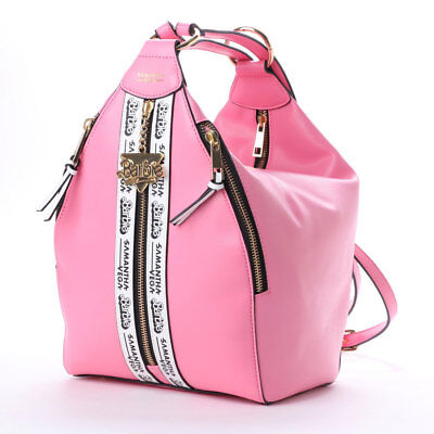 3f93df934a22 Samantha Thavasa Vega Barbie Collaboration 2Way Backpack Shoulder Logo Bag