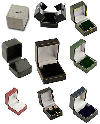 Luxury Leatherette Earring Boxes Colour Choice High Quality Jewellery boxes