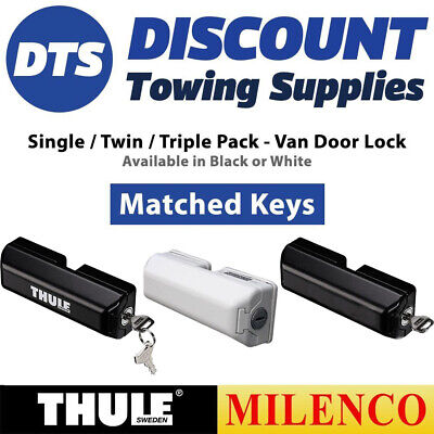 Thule Milenco High Security Van Door Locks SINGLE, TWIN or TRIPLE Keys Matched