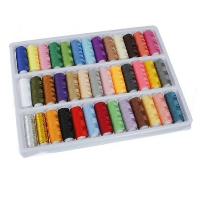 39 Rolls Assorted Colour Spools Polyester Thread For Sewing Hand Machine N2V8