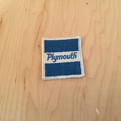 """plymouth   patch,new old stock,  ,1960's ,""""stripe"""",set of 2"""