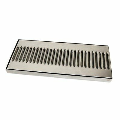 NEW! Stainless Steel Long Home Garden Bar Pub Beer Drip Tray 35 x 16cm
