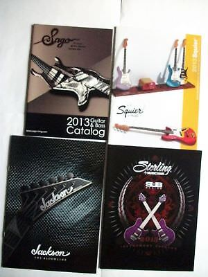 2013 Japan Guitar Catalog Set of 4 Jackson Squier Sterling Sago