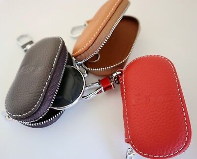 Universal Car Key Case Genuine Leather Keychain Purse Premium Colour Large Goroo