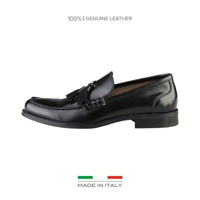 Made in Italia scarpe uomo mocassini pelle Nero 67943 elegante chic outlet moda1