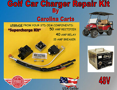 CLUB CAR Golf Cart POWERDRIVE 2 Charger Repair Kit MODEL # 22110 SUPERCHARGE KIT