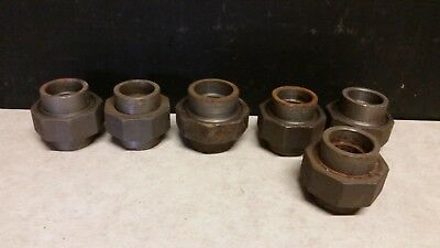 "*NEW LOT OF 6* 1-1/4""  &  1-1/2""  Socket Weld Union Pipe Fitting Class 3000  NS5"