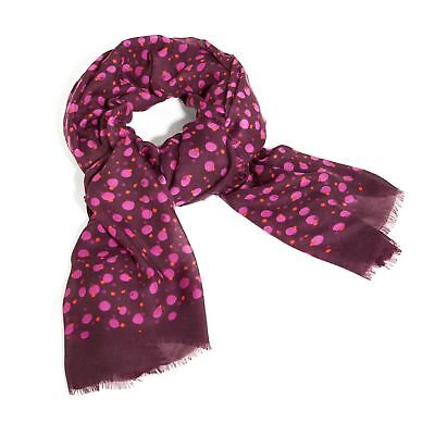 Vera Bradley Printed Poly Scarf in Rosewood Dots