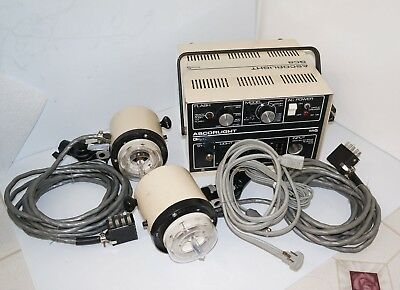 Ascorlight QC-8  Electronic Flash System - Power Supply & Two Flash Light