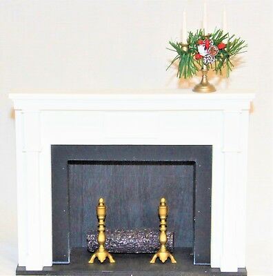 Byers Choice Fireplace with Candelabra
