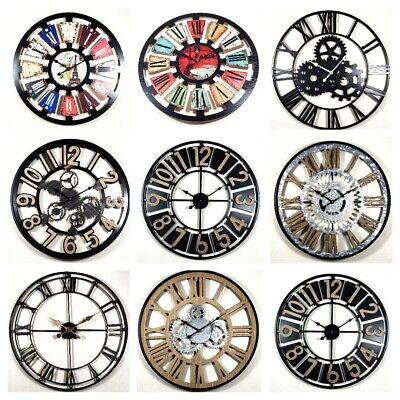 large diy wall clock vintage antique style retro home decor 30cm 40cm 50cm 60cm