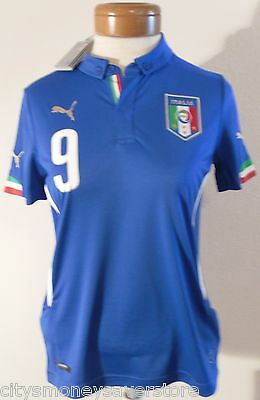 NWT Puma Italy Mario Balotelli  9 Youth Kids Home Soccer Jersey L Blue  MSRP 90 bd8217ba5