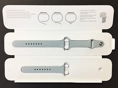 Genuine Apple Watch Sport Band MPUR2AM/A - 42mm (Mist Blue) Stainless Steel Pin