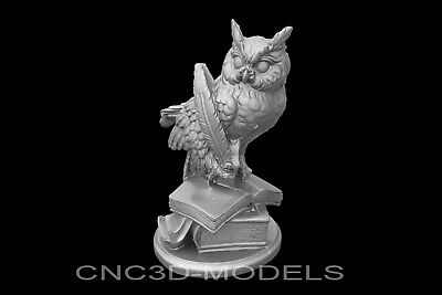 3D Model STL for CNC Router Engraver Carving Artcam Aspire Owl Statue g135