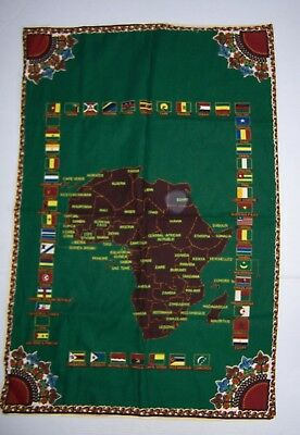 Vintage Cloth Map of Africa