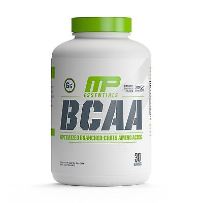 LATEST MusclePharm MP Essential BCAA 3:1:2 Amino Acid Complex 240 Capsules