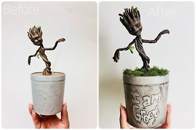 WDW Disney Parks Marvel Guardians Of The Galaxy Baby I Am Groot Sipper Cup Straw