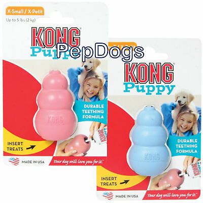 KONG Puppy X-SMALL Rubber Teething XS Dog Treat Chew Toy EXTRA SMALL KP4