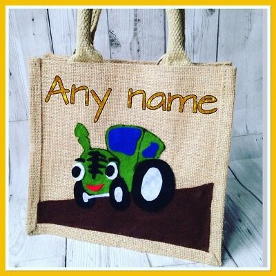 Personalised Tractor Bag. Boys Accessories, Lunch, Nursery, Birthday Gifts, Farm