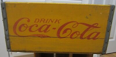"""1930s COCA-COLA Wood NEW YORK, NY Coke Bottle Crate Carrier Box 17"""" x 11"""" x 8.6"""""""