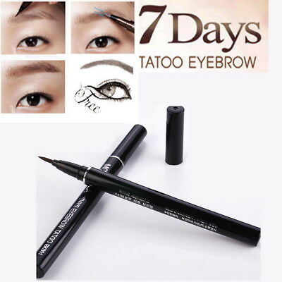 7 Days Waterproof Eyebrow Tattoo Pen Liner Eye Makeup Cosmetic Long Lasting OZ