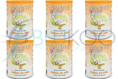 NANNYCare Stage 2 Follow On Formula - 900g (Pack of 6)