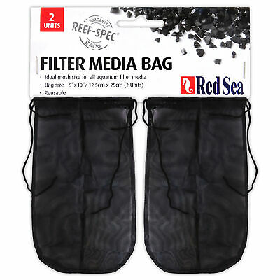 "RED SEA Filter Media Bags (2-pack) 5""x10"" for Reef Spec Carbon Marine Fish Tank"
