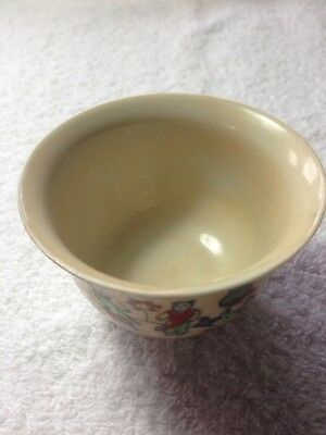 Rare Antique Large Chinese Porcelain Famille Rose Tea Cup Signed