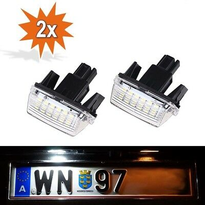2x LED License Number Plate Lights For Toyota Camry Yaris Vios Corolla 2014+