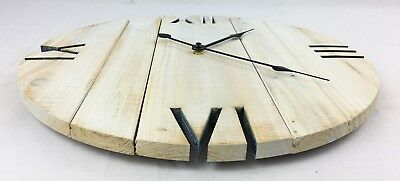 Hand Made Wooden Shabby Chic Rustic Pallet Style Wall Clock Recycled Cottage