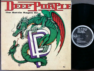 "DEEP PURPLE - The Battle Rages On 12"" Vinyl 1993 Korea 1st Press, EX, w/Insert"