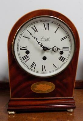 commiti of london westminster yew wood inlaid bracket clock