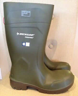Dunlop Purofort Safety Boot~FOODPRO~MultiGrip~Protective Steel T/Cap~Size13~NWT