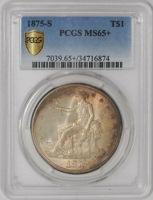1875-S Trade Dollar $ MS65+ Secure Plus PCGS