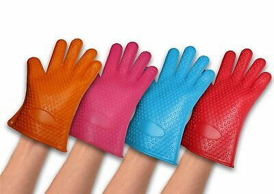 Vinsani Silicone Heat-Resistant Waterproof Cooking Gloves - Dishwasher Safe
