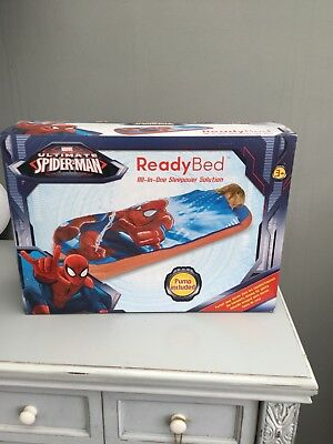 Marvel Spider-Man Junior Ready Bed Kids Children Airbed Sleeping Bag In One