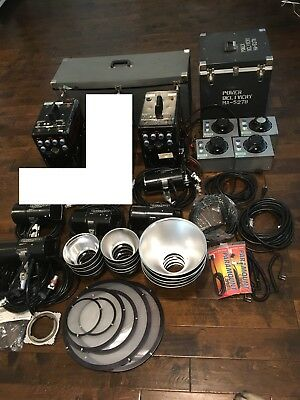 Speedotron Photography equipment - HUGE LOT - two 2401A's, 3-102a, 105 cases etc