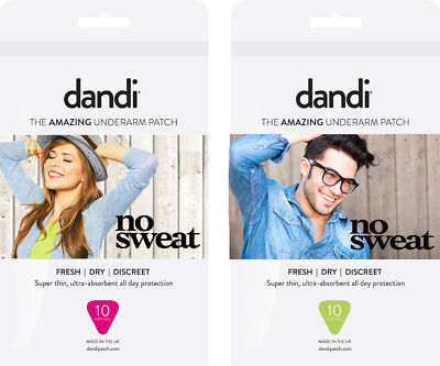 dandi® patch Deodorant / Antiperspirant Alternative Anti-Sweat Pads