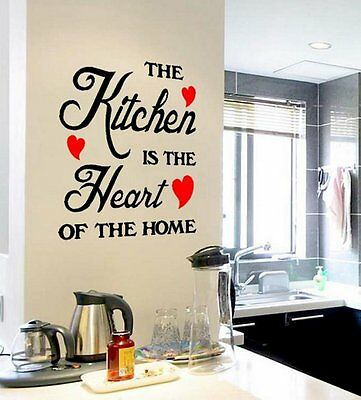 Removable Kitchen Quote Word Decals Vinyl DIY Home Room Decor Art Wall Stickers