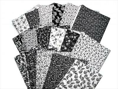 17 Black And White Quilting Fabric Fat Quarters Beautiful