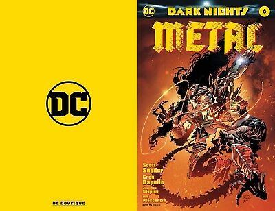 Dark Nights Metal 6 Awesome Con Convention Washington Gold Foil Variant Nm