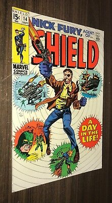 SHIELD #14 -- September 1969 -- Nick Fury -- VF- Or Better