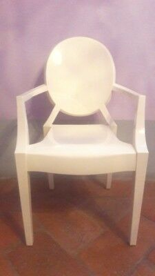 Originale Kartell Poltroncina Lou Lou Ghost Kids Philippe Starck Color Bianco