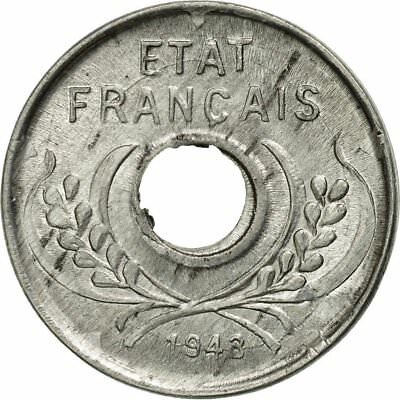 [#492194] Coin, FRENCH INDO-CHINA, 5 Cents, 1943, Paris, MS(60-62), Aluminum
